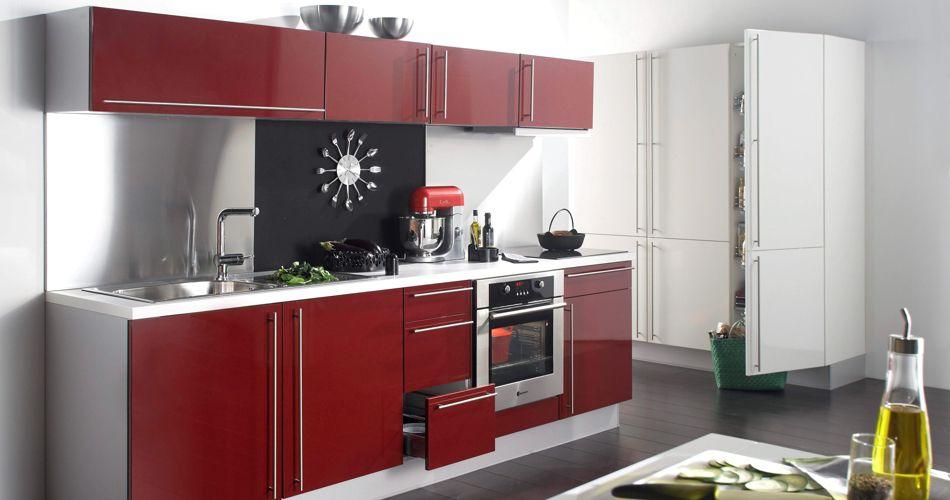 Idee Rangement Chambre Ado Fille : Cuisine Design Nuance Rouge