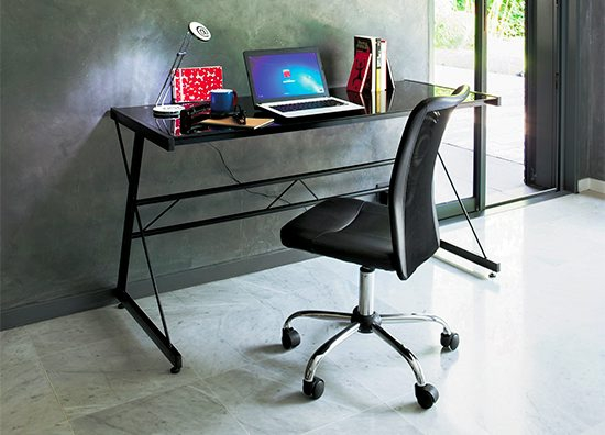 fauteuil de bureau luxe noir chaises et fauteuils but. Black Bedroom Furniture Sets. Home Design Ideas
