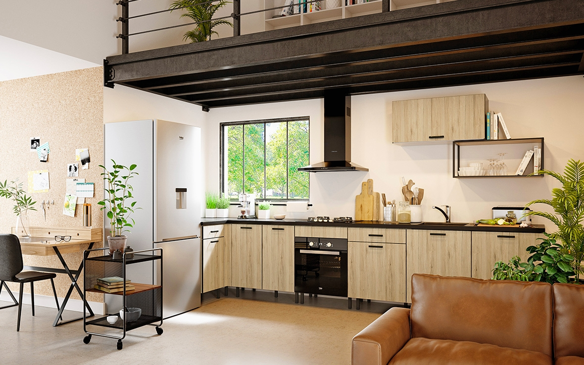 cuisine en kit image may contain indoor with cuisine en kit cuisine qualit with cuisine en kit. Black Bedroom Furniture Sets. Home Design Ideas