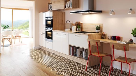 cuisine quip e laqu e avec lot central l 39 ambiance pur e et design pour un style chic diamante. Black Bedroom Furniture Sets. Home Design Ideas