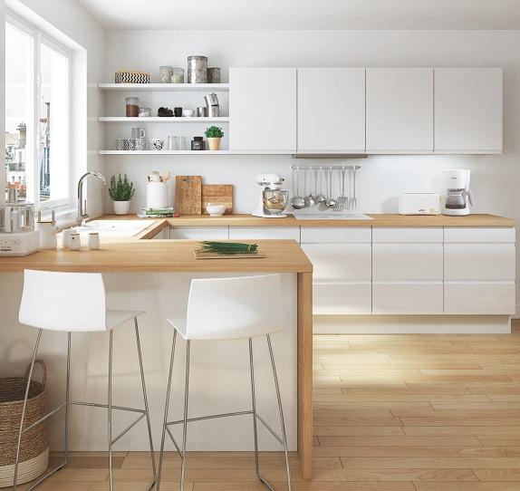 cuisine loft - Cuisine Blanc Chene