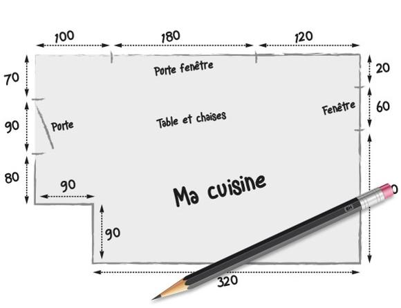 Comment prendre les mesures de sa cuisine for Prise de cote fenetre