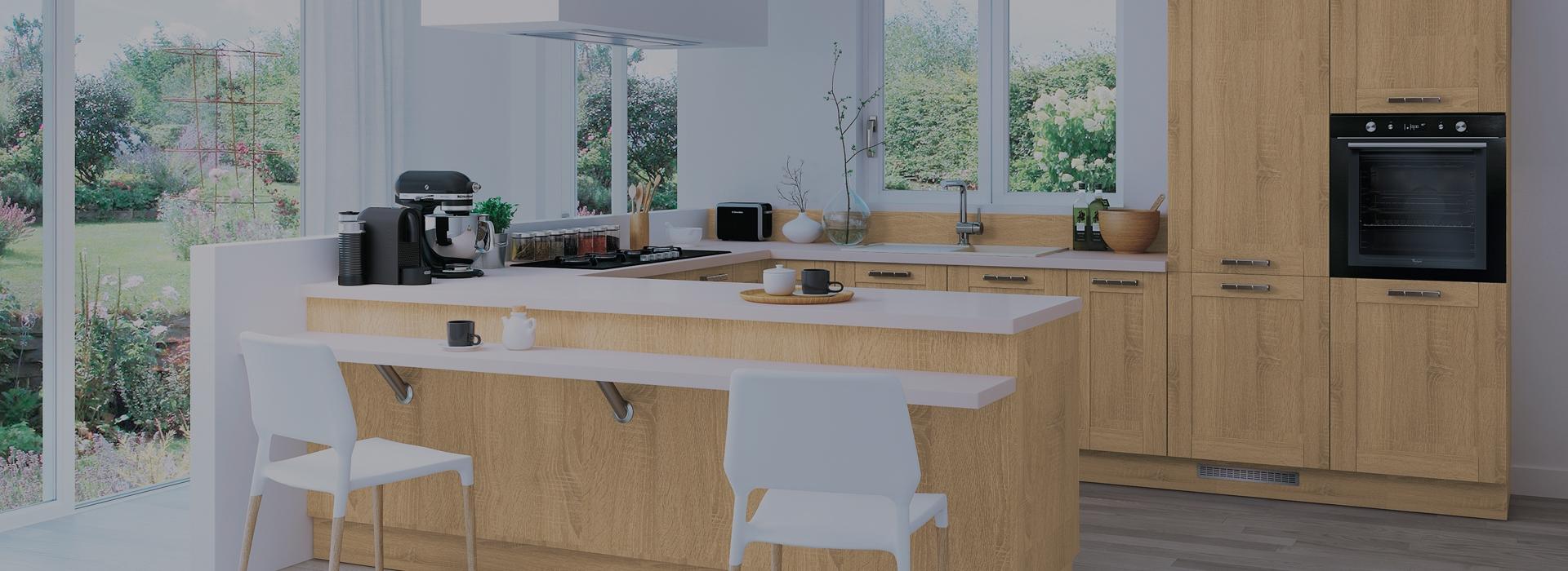 Tendance des cuisines aux fa ades en bois clairs et bois - Oxybul cuisine en bois ...