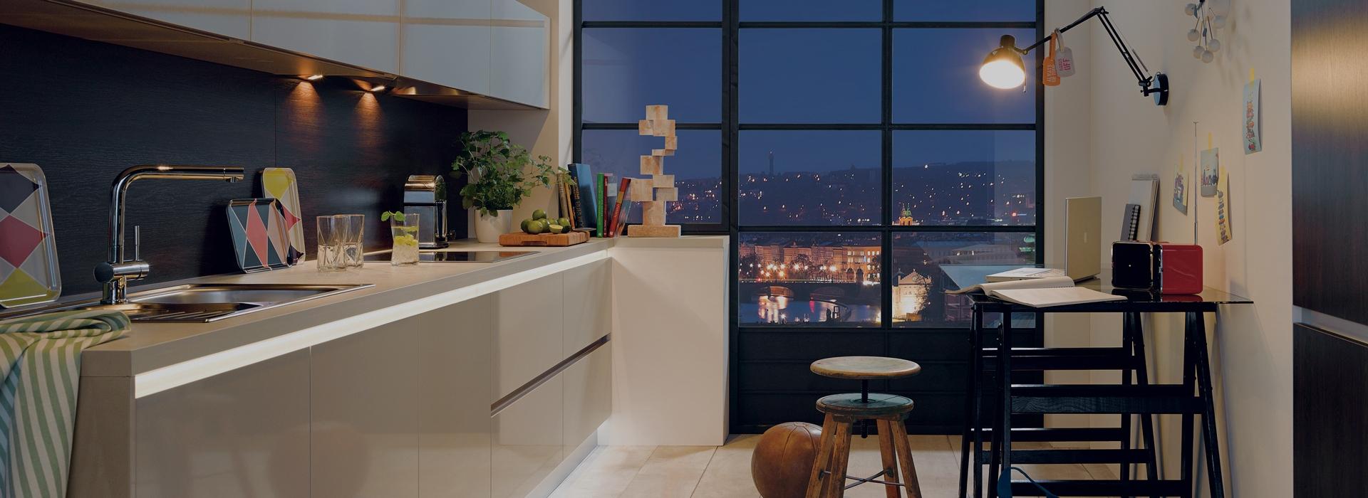 Eclairage sous meuble haut cuisine kit de 2 spots led Applique eclairage meuble cuisine ikea