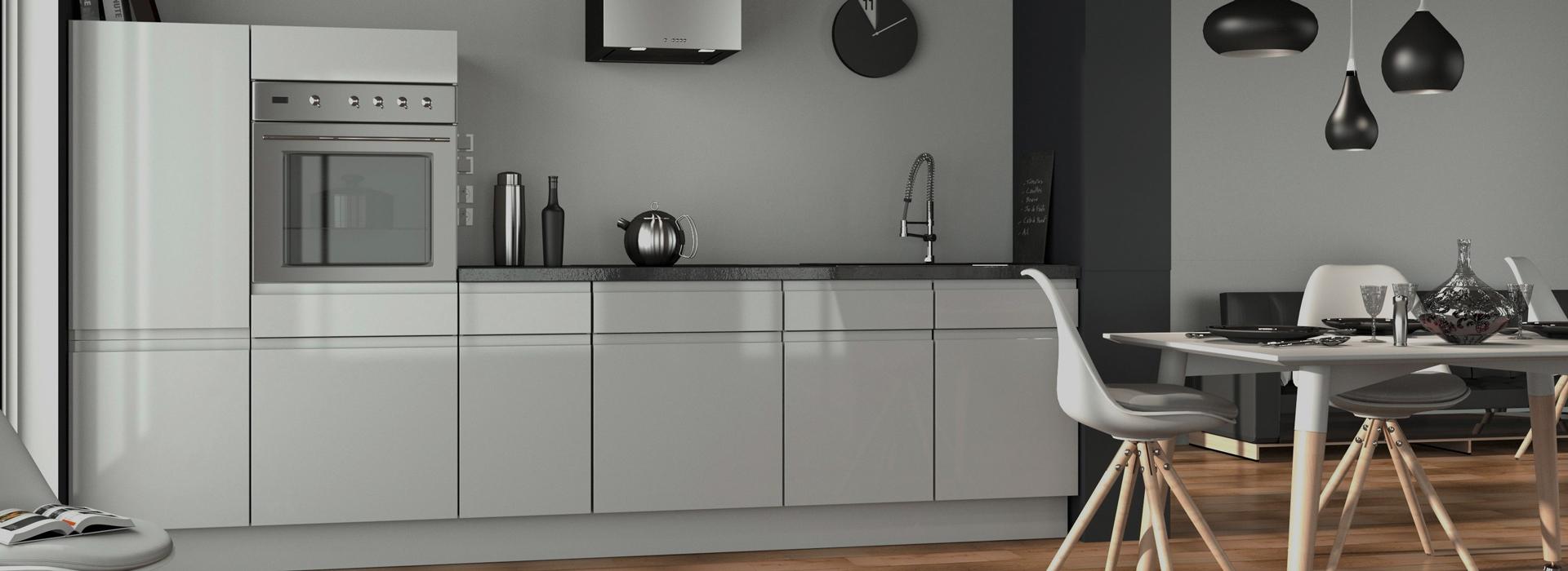 Les cuisines am nag es sans poign e pour un design aux - Comment ouvrir une porte sans poignee ...