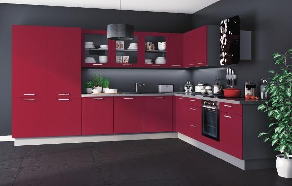 cuisine rouge grise bleue noire osez la couleur. Black Bedroom Furniture Sets. Home Design Ideas
