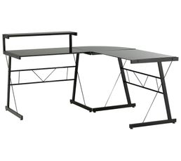 Affordable bureau duangle style noir with bureau en angle