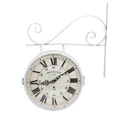 POTENCE Horloge Blanc