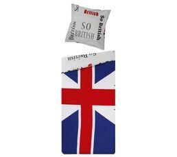 Housse de couette 140x200 + 1 Taie d'oreiller 65x65 BRITISH imprimé