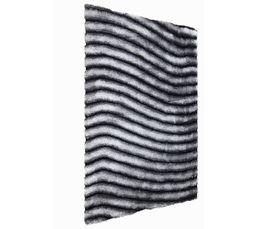 NEVADA Tapis 160x230 cm Gris/blanc