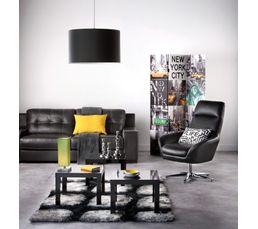 Tapis 140x200 cm STONES Noir/gris