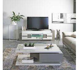 MEUBLE TV RIMINI Taupe/Gris