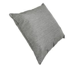 Housse : 30% lin, 70% viscose. Garnissage : 100% polyester. Dimensions en cm : 60x60. Entretien : Coloris gris. Déhoussable.