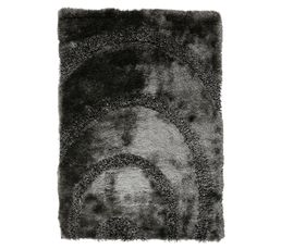 tapis 160x230 cm spiral gris tapis but. Black Bedroom Furniture Sets. Home Design Ideas