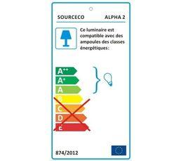 Lampe de bureau ALPHA 2 Bleu