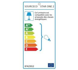 Lampadaire STAR ONE 2 Gris