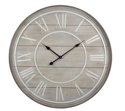 COTTAGE Horloge Naturel/Blanc