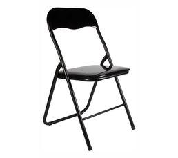 Optez pour cette chaise pliante et assise confortable noir glossy pour une touche design dans votre intérieur. Un véritable gain de place lorsque vous ne l'utilisez pas. Piètement : Structure fer. Dispo pcs détachées donnée fournisseur : NC. Assise et dos