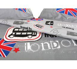 Housse de couette 240X220cm + 2 taies d'oreiller LONDON BUS