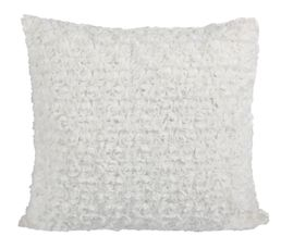 Rosa Coussin 40 x 40 cm blanc