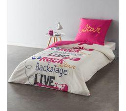 housse de couette 140x200 cm 1 taie d 39 oreiller rock linge de lit but. Black Bedroom Furniture Sets. Home Design Ideas