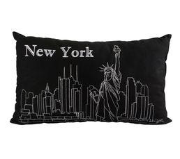 Coussin 30x50 cm NY Noir