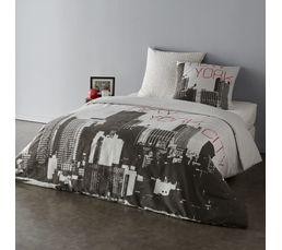 parure de lit new york 1 personne free housse de couette. Black Bedroom Furniture Sets. Home Design Ideas