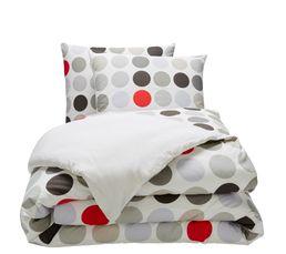 housse de couette 240x220cm 2 taies d 39 oreiller dot linge de lit but. Black Bedroom Furniture Sets. Home Design Ideas