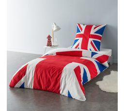 Housse de couette 140X200 cm + 1 taie d'oreiller UK FLAG