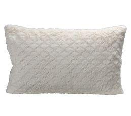 Coussin 30x50 cm BLANC NATURE Blanc