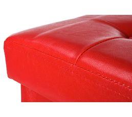 Pouf L.38 - l.38 - H.38 cm POUF PLIABLE rouge