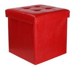 POUF PLIABLE  rouge