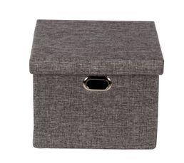boite avec couvercle LINO gris
