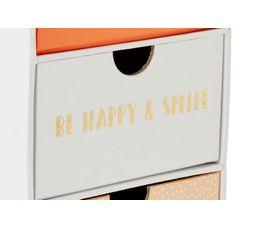 Box 3 tiroirs H. 19 cm. EMMA Multicolor