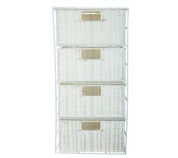 Meuble 4 tiroirs SEATTLE Blanc