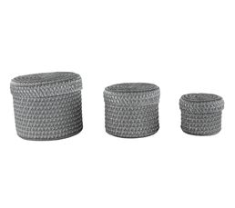 Lot 3 paniers rond COCOONS Gris
