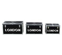 Set 3 malles UK CITY Noir