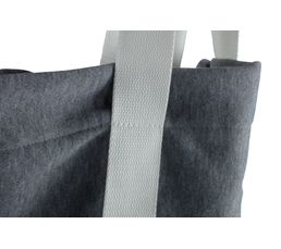 Tote bag 40x41 cm LILY Gris / Blanc