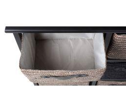 Tour 6 tiroirs Manao Noir/gris
