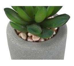 Pot cactus en ciment H. 16,7cm SEATTLE Blanc