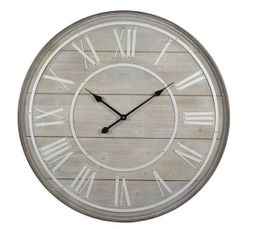 COTTAGE Horloge Naturel / blanc