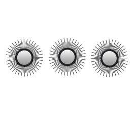 Set de 3 miroirs diam 25 cm SHINE Assortis