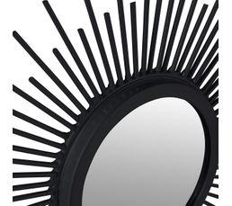 Set de 3 miroirs diam 25 cm SHINE Noir / argenté / doré