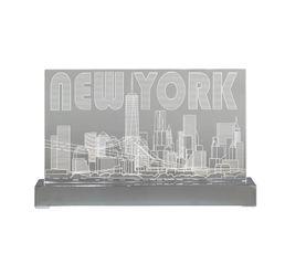 NYC ACRYLIQUE LAMPE H.16 Lampe à poser Transparent