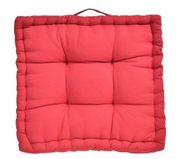 coussin de sol 40x40 cm color rouge coussins but. Black Bedroom Furniture Sets. Home Design Ideas