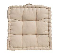 coussin de sol 40x40 cm color taupe coussins but. Black Bedroom Furniture Sets. Home Design Ideas