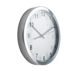 Horloge D.30,5 cm GLAMOUR Argenté