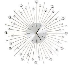 Horloge D50cm DIAMOND Argentée