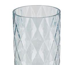 Vase en verre H. 30cm DIAMANT Rose / Vert