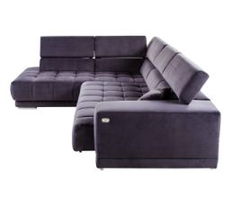 Canapé d'angle gauche relax pack full option OCEAN tissu Salsa anthracite